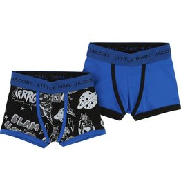 Little Marc Jacobs Little Marc Jacobs Set of 2 jersey lycra boxer shorts