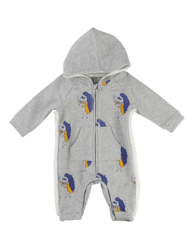 Little Marc Jacobs Little Marc Jacobs Allover printed fleece overalls with a Hood, fringes on the side, zip fastener.
