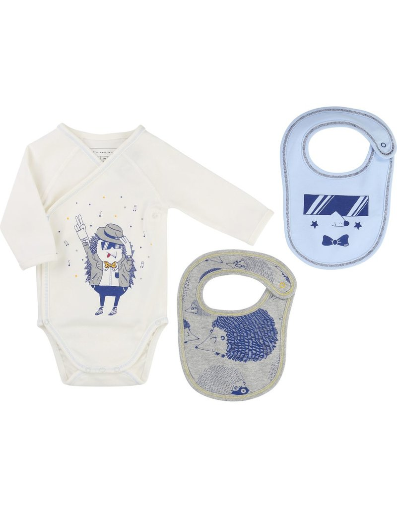 Little Marc Jacobs Little Marc Jacobs Set of interlock bodysuit and bib with gift box.