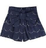 Carrement Beau Carrement Beau Silk effect modal shorts with gold print