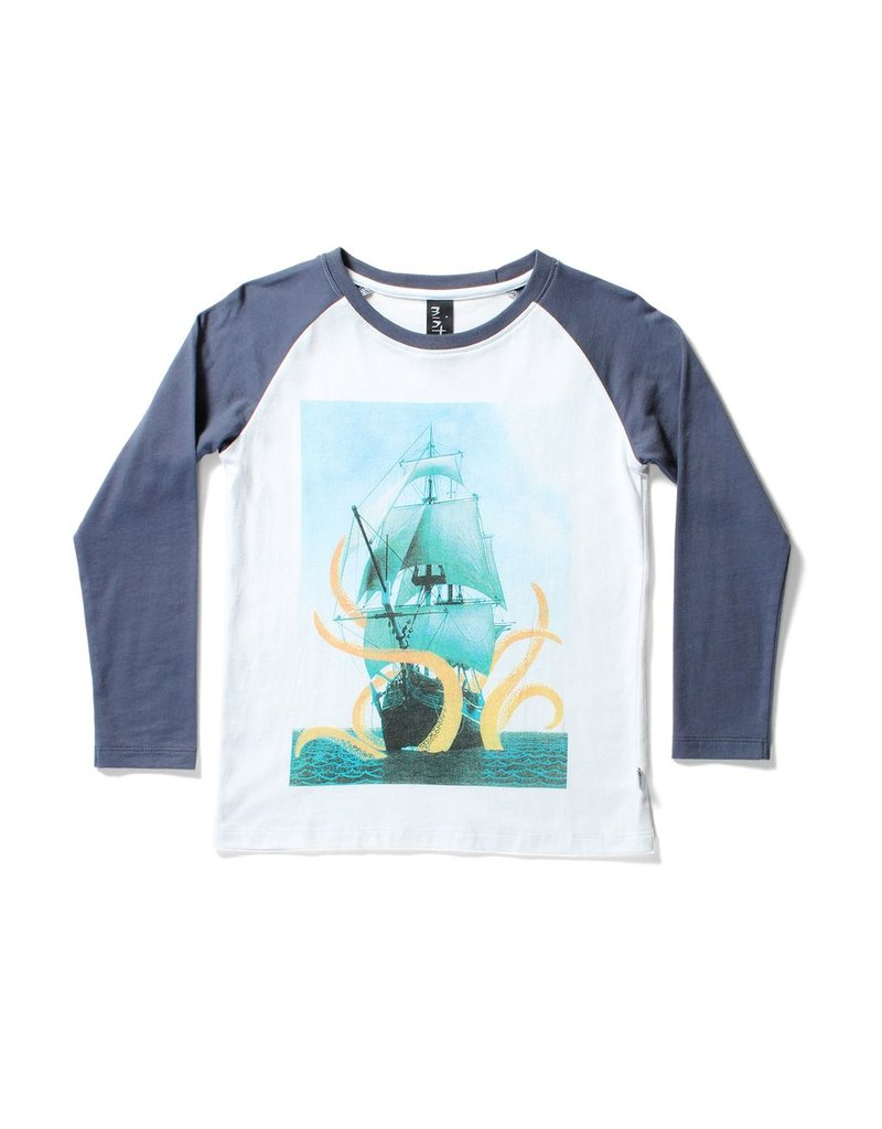 Minti Minti SEA MONSTER LS RAGLAN TEE