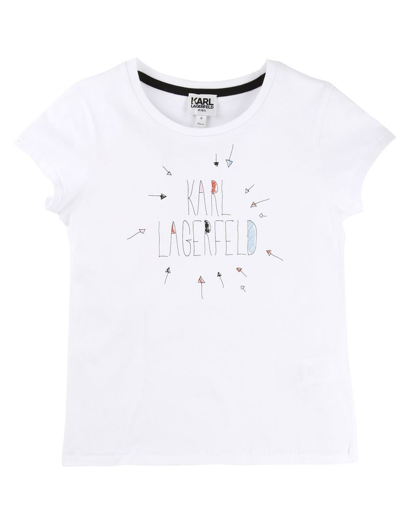 Karl Lagerfeld Kids Karl Lagerfeld Cotton and elasthane jersey tee-shirt with Karl lettering printed pattern.