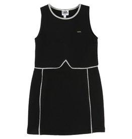 Karl Lagerfeld Kids Karl Lagerfeld Quilted fleece dress with zip side fastener and embossed KARL lettering.