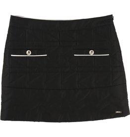 Karl Lagerfeld Kids Karl Lagerfeld KL quilted skirt with zip side fastener and Karl metal plate