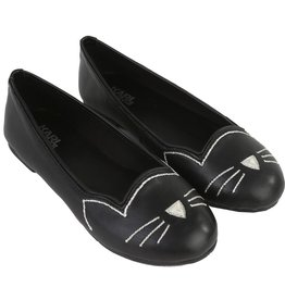 Karl Lagerfeld Kids Karl Lagerfeld Goat leather ballerinas.