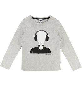 Karl Lagerfeld Kids Karl Lagerfeld Cotton jersey tee-shirt with Karl printed pattern.