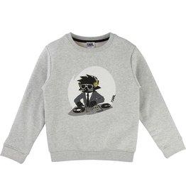 Karl Lagerfeld Kids Karl Lagerfeld Fleece sweatshirt with Bad Boy printed pattern.