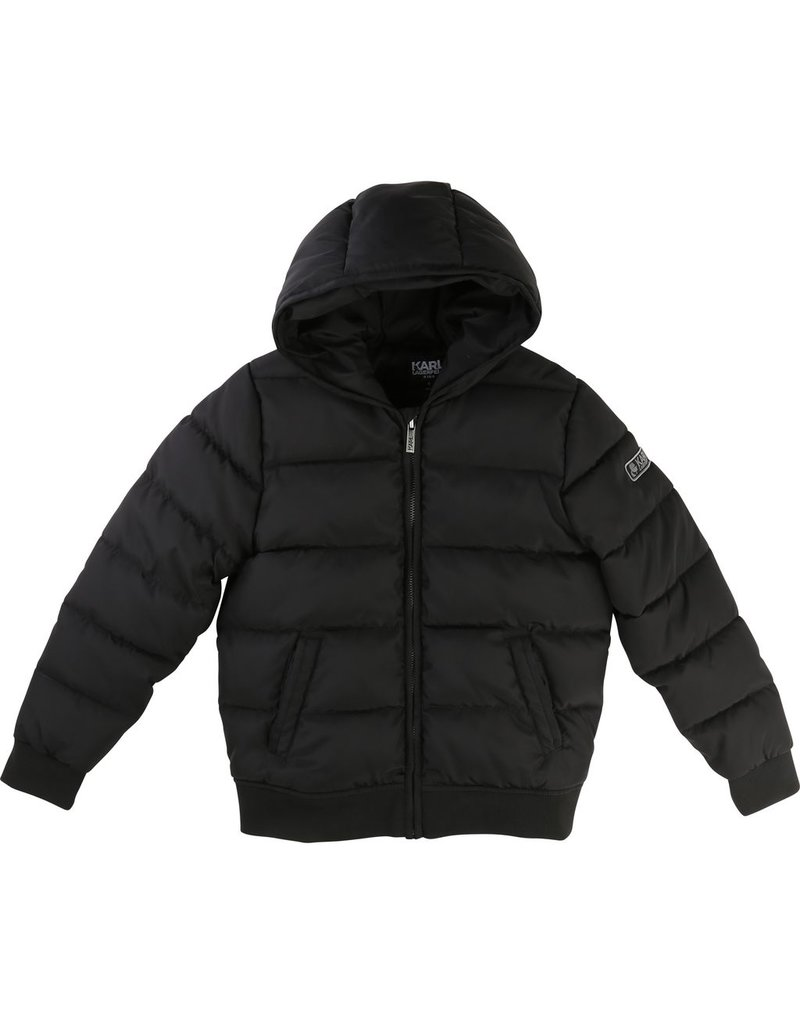 Karl Lagerfeld Kids Karl Lagerfeld Hooded puffer jacket with Kameo allover lining