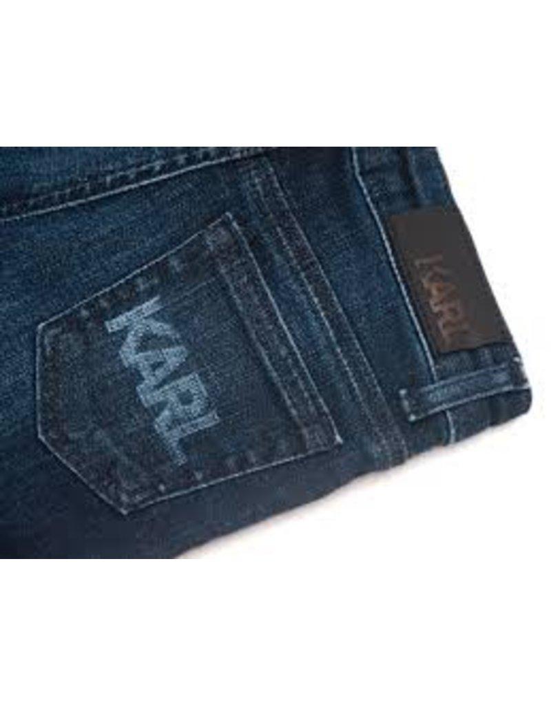 Karl Lagerfeld Kids Karl Lagerfeld Denim slim pants with rubber label with logo