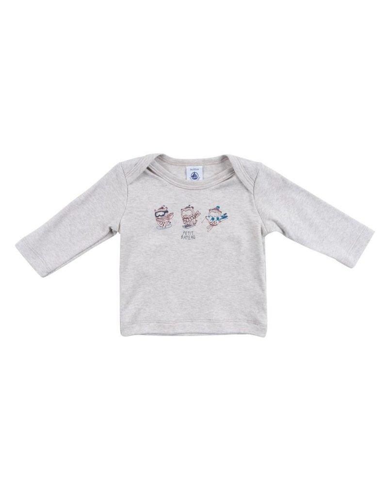 Petit Bateau Petit Bateau Tee Shirt with Ski Print