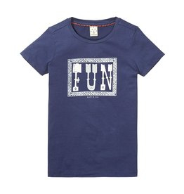 Scotch Rbelle Scotch Rbelle Basic short sleeve tee - FUN