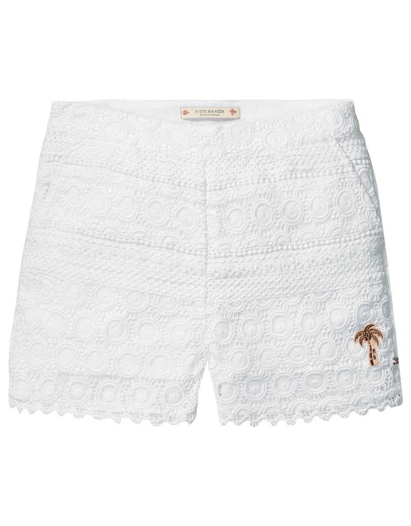 Scotch Rbelle Scotch Rbelle Paneled lace shorts