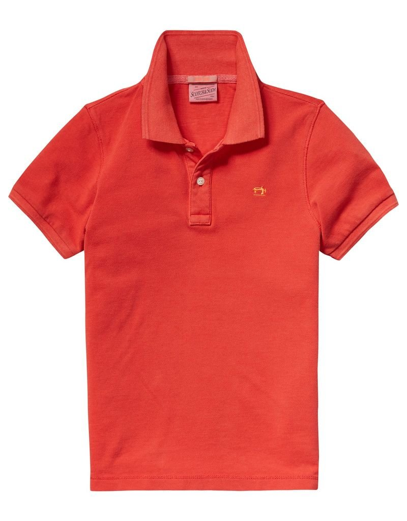 Scotch Shrunk Scotch Shrunk Garment dyed pique polo