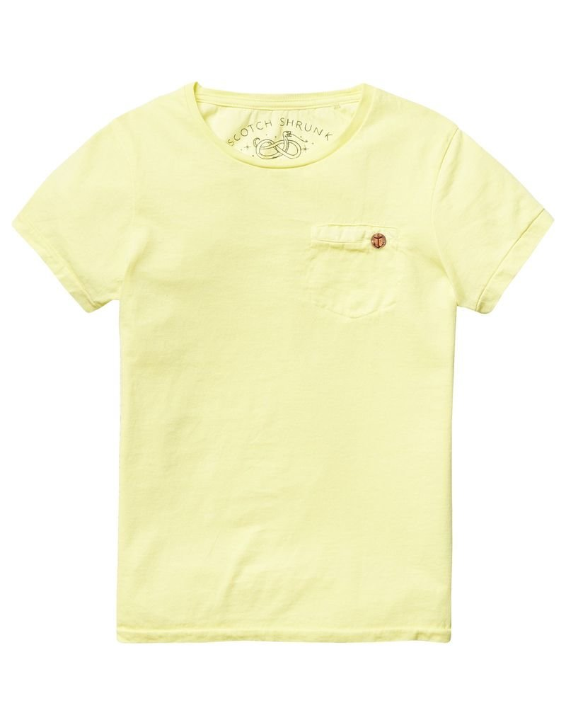 Scotch Shrunk Scotch Shrunk Basic garment dyed crew neck tee