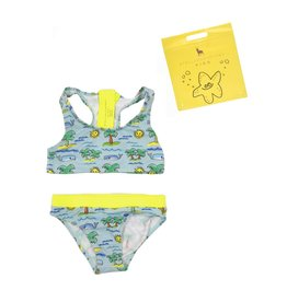 Stella McCartney Kids Stella McCartney Kids KOKO SWIMWEAR W/FLURO BEACH PRINT