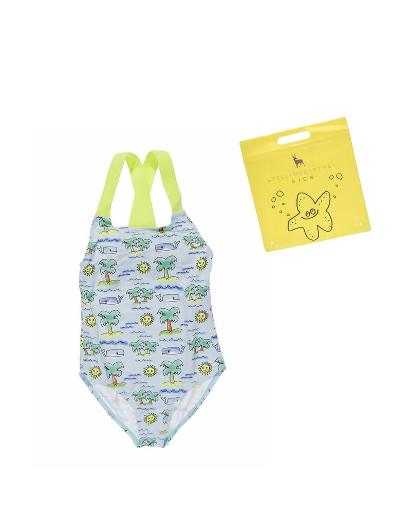 Stella McCartney Kids Stella McCartney Kids SUNNEE SWIM HAND DRAW PALM PRINT