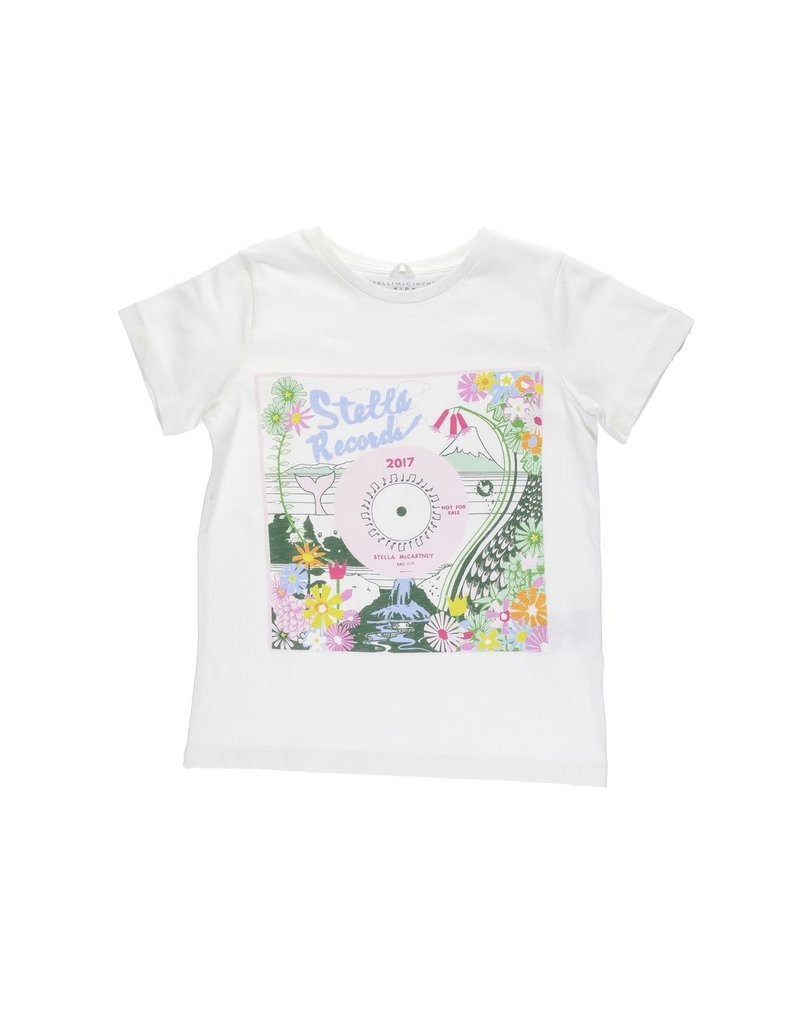 Stella McCartney Kids Stella McCartney Kids ARLOW T SHIRT W/RECORD PRINT