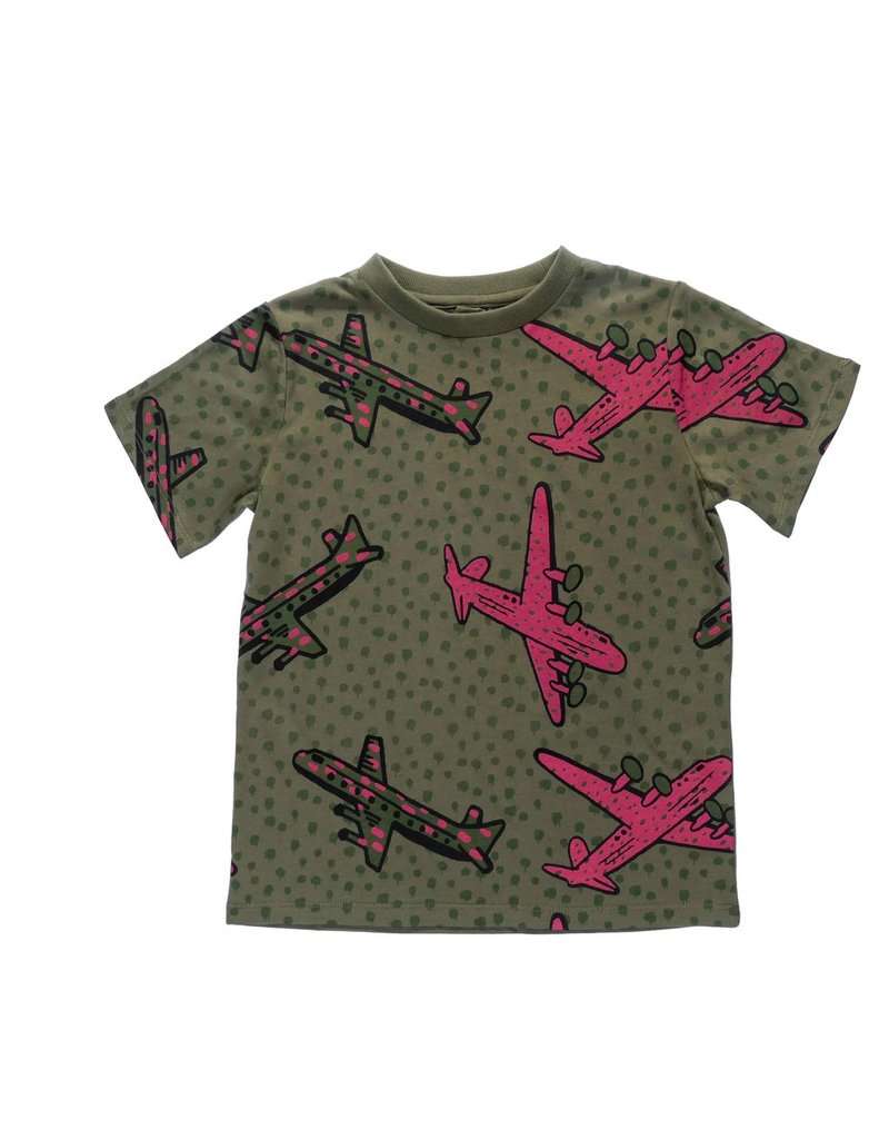 Stella McCartney Kids Stella McCartney Kids ARLO T SHIRT W/AEROPLANE PRINT