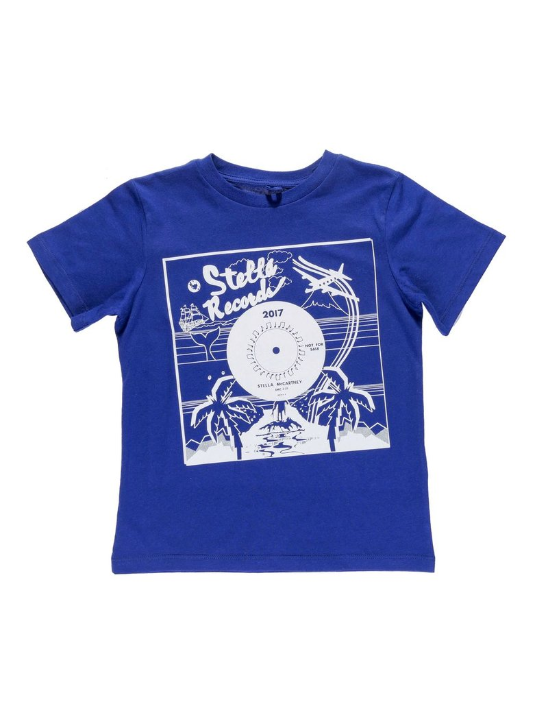 Stella McCartney Kids Stella McCartney Kids ARROW T SHIRT W/RECORD PRINT
