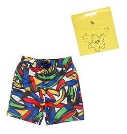 Stella McCartney Kids Stella McCartney Kids TAYLOR SWIMWEAR STROKES PRINT