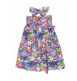 Stella McCartney Kids Stella McCartney Kids CELESTE DRESS COLLAGE FLORAL PRINT