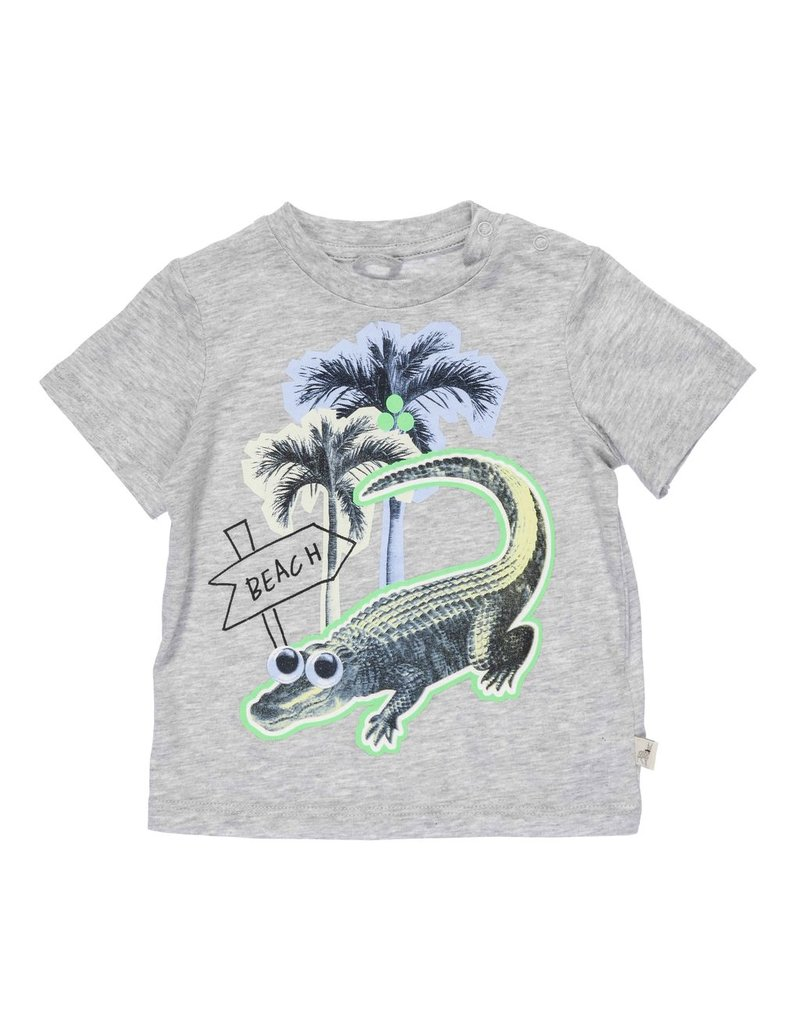 Stella McCartney Kids Stella McCartney Kids CHUCKLE TEE W/CROC BEACH PRINT