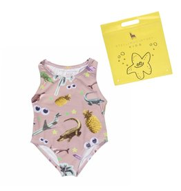 Stella McCartney Kids Stella McCartney Kids MARCIE SWIMSUIT W/STICKER PRINT