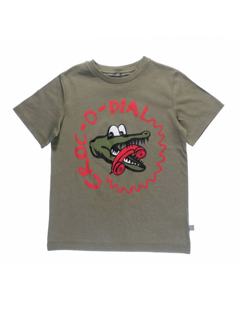 Stella McCartney Kids Stella McCartney Kids ARROW TEE W/CROC DIAL PRINT