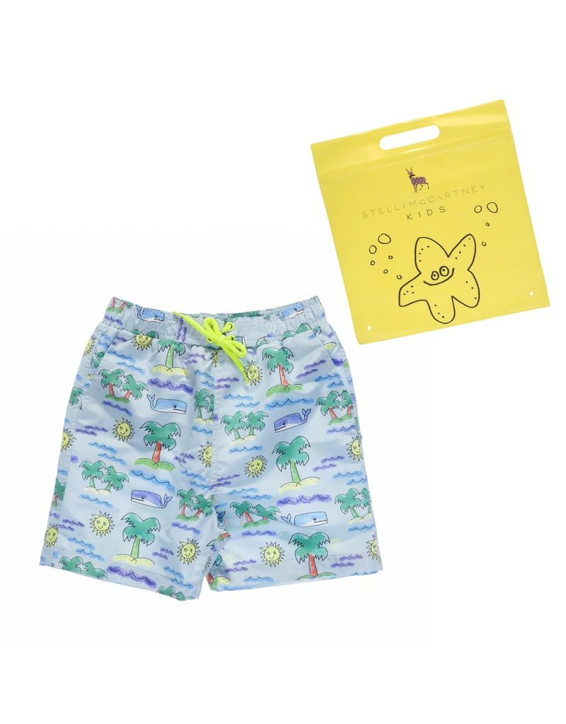 Stella McCartney Kids Stella McCartney Kids TAYLOR SWIMWEAR FLURO BEACH PRINT