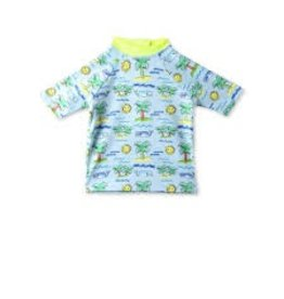 Stella McCartney Kids Stella McCartney Kids SPLASH SWIM TEE FLURO BEACH PRINT