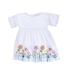 Stella McCartney Kids Stella McCartney Kids CORIE DRESS W/EMBO FLOWERS