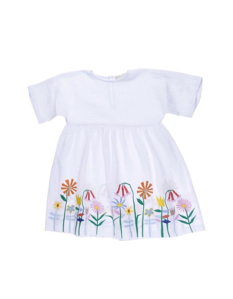 Stella McCartney Kids Stella McCartney Kids CORIE DRESS W/EMBO FLOWERS