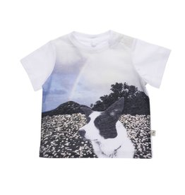 Stella McCartney Kids Stella McCartney Kids CHUCKLE MFM TEE W/DOG PRINT