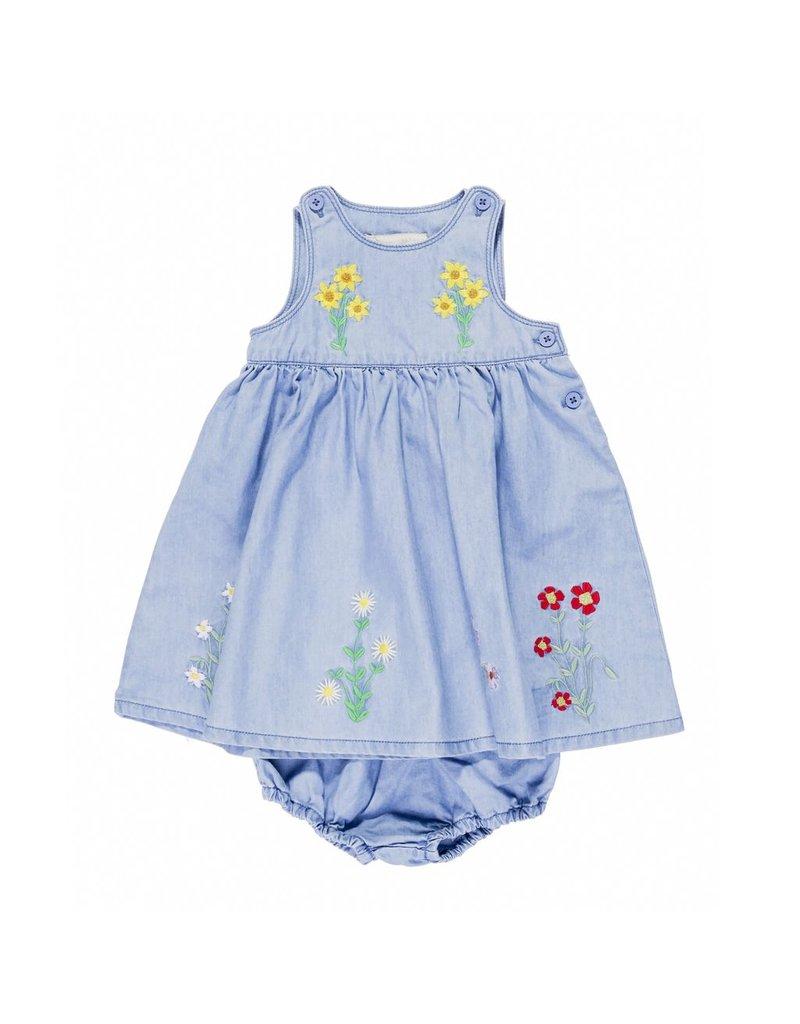Stella McCartney Kids Stella McCartney Kids POSIE BABY DRESS EMBRO FLOWERS