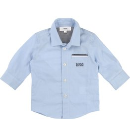 Hugo Boss Hugo Boss Gingham cotton poplin shirt, pocket details