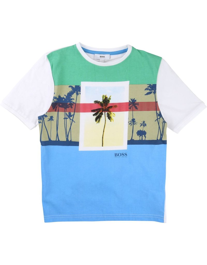 Hugo Boss Hugo Boss Cotton jersey tee shirt + print.