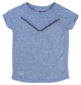 Zadig and Voltaire Zadig and Voltaire Cotton jersey tee shirt with linen effect