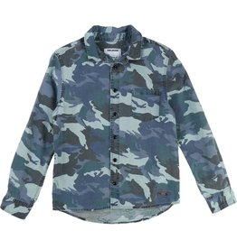 Zadig and Voltaire Zadig and Voltaire Denim shirt with camo all over print