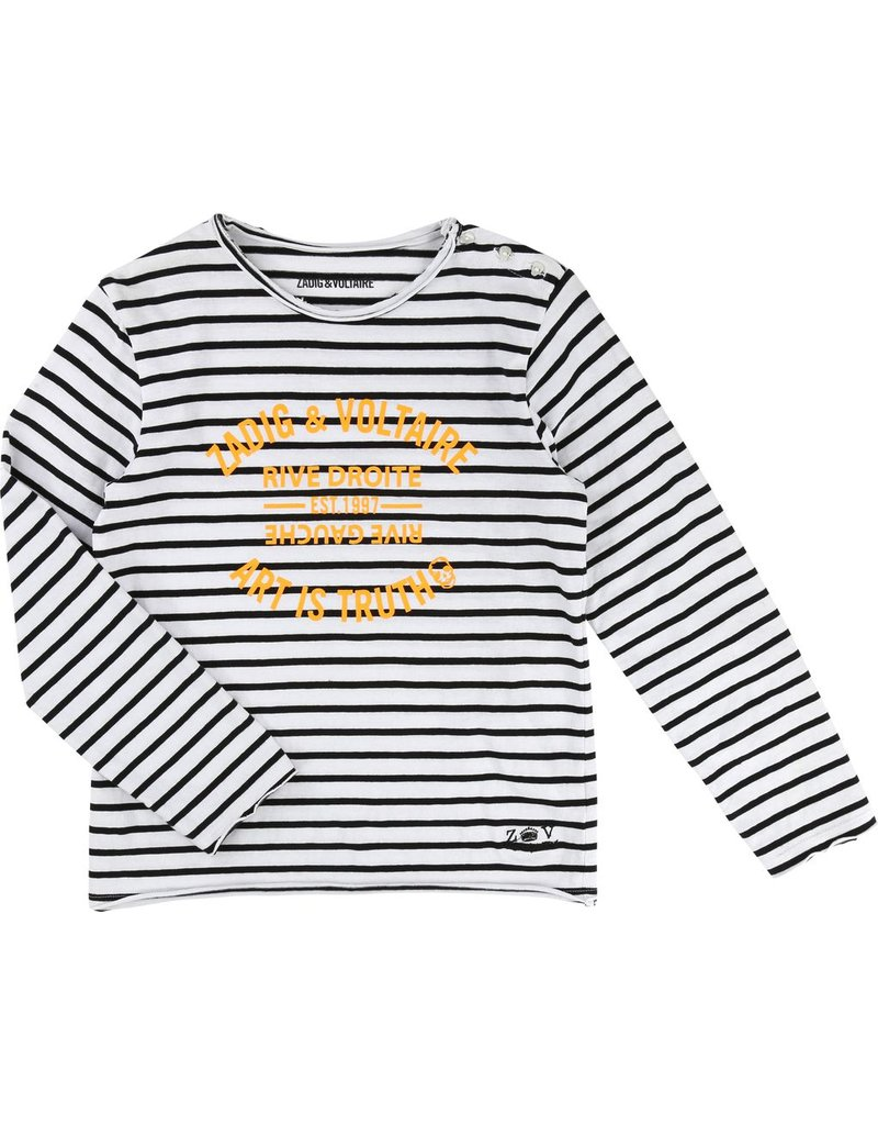 Zadig and Voltaire Zadig and Voltaire Cotton jersey striped tee shirt, long sleeves