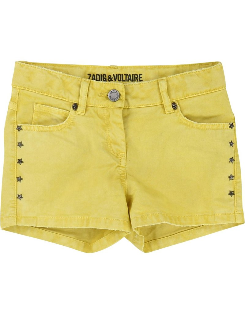 Zadig and Voltaire Zadig and Voltaire 5 pockets drill shorts, skull rivet on the front and stars rivets on sides