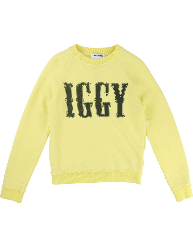 "Zadig and Voltaire Zadig and Voltaire Cotton fleece sweater, ""Iggy"""