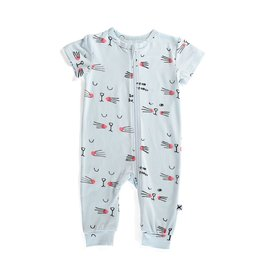Minti Minti Sleepy Cat Summer Zippy Suit