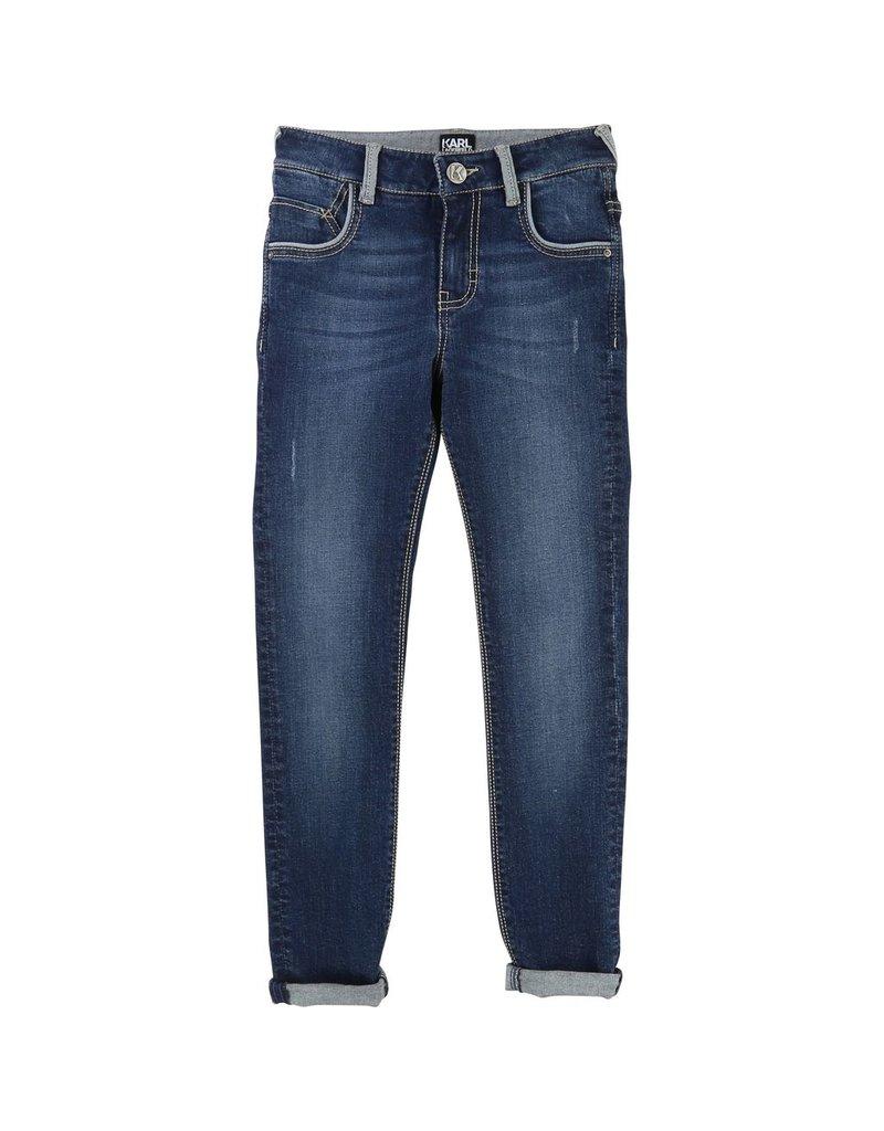 Karl Lagerfeld Kids Karl Lagerfeld Slim 5 pockets denim pants