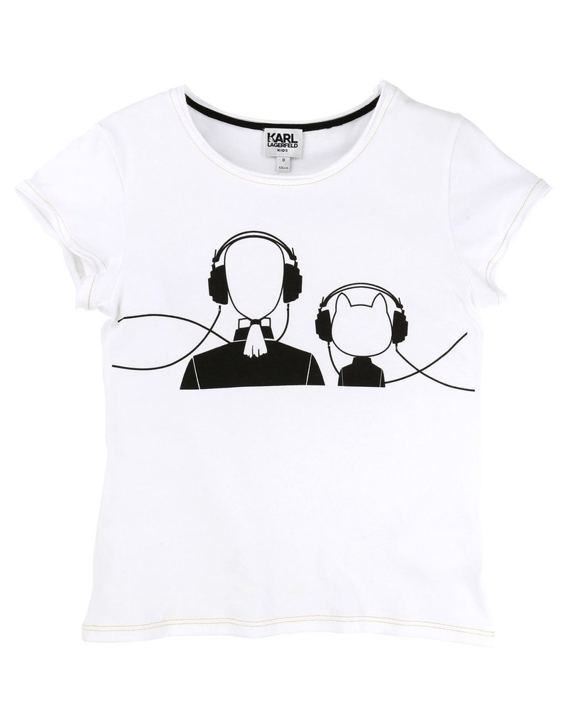 Karl Lagerfeld Kids Karl Lagerfeld Cotton and elasthane jersey tee-shirt