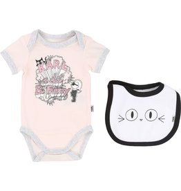 Karl Lagerfeld Kids Karl Lagerfeld Set of cotton body and bib Gift Set