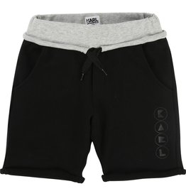 Karl Lagerfeld Kids Karl Lagerfeld Fleece bermuda shorts with contrast detail