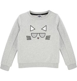 Karl Lagerfeld Kids Karl Lagerfeld French terry sweatshirt with Choupette printed pattern.