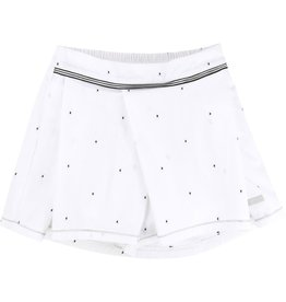 Karl Lagerfeld Kids Karl Lagerfeld Plumetis cotton skirt