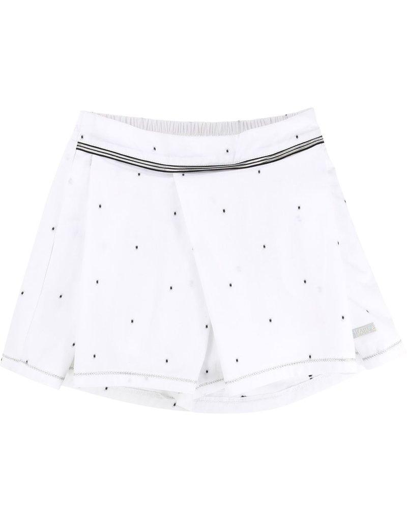 Karl Lagerfeld Kids Karl Lagerfeld Plumetis cotton skirt