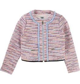 Karl Lagerfeld Kids Karl Lagerfeld Tweed jacket with fringe